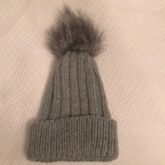 Gray Topshop winter hat with Pom Pom 26fed378ccd